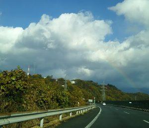 虹が見える写真