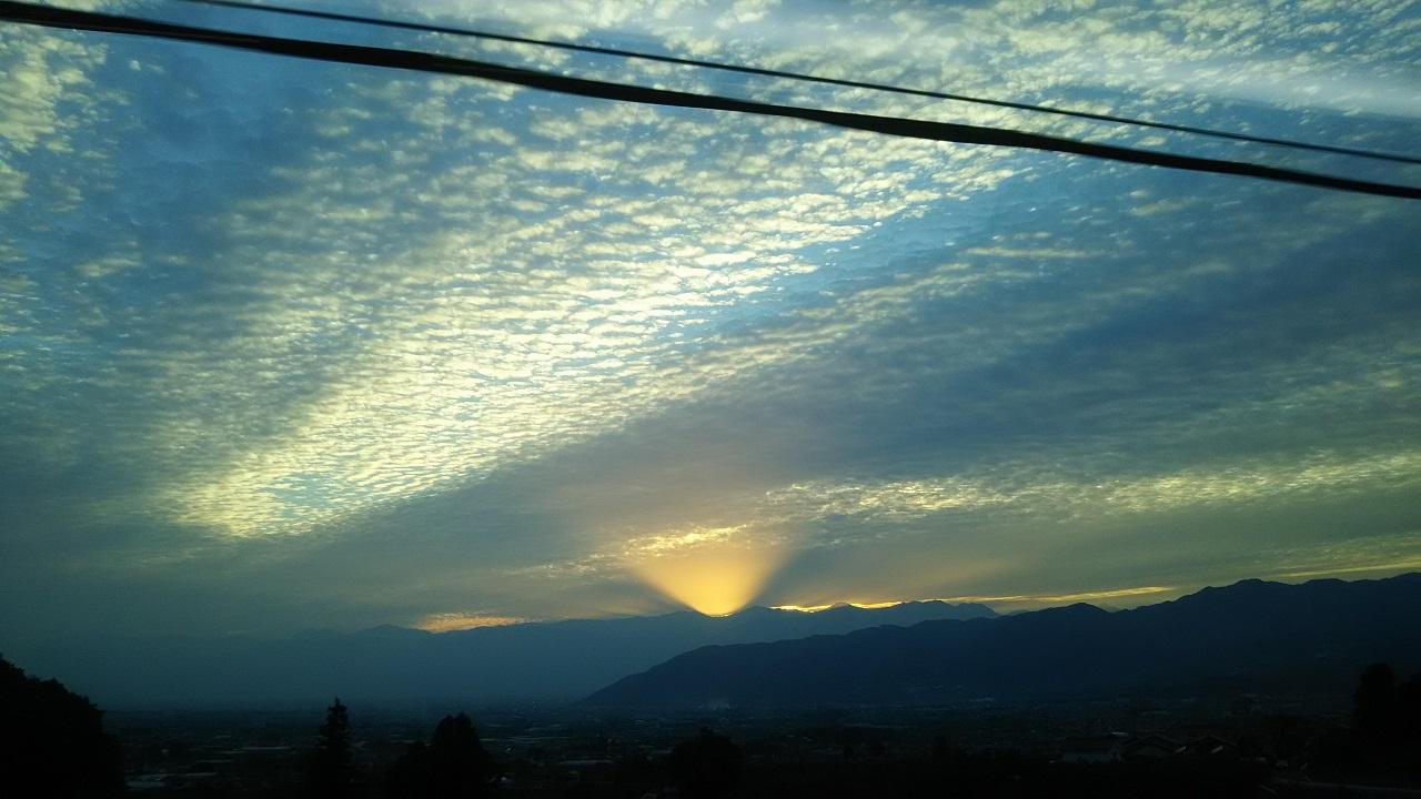 うろこ雲の写真